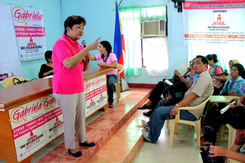 Gabriela Women's Party Representative-Luzviminda Ilagan talks about the significance of protecting the rights of women and discusses the prevailing cases of violence towards them.