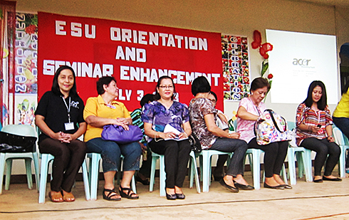 Preparing for their turn to orient seated in line were the university officials at Molave municipality.