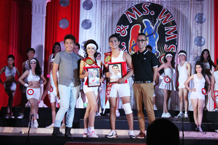 Glady Sta. Teresa of CHE (front, second to the left) and Mr. WMSU Antonio Salcedo (CCJE) were recognized as the Mr. and Ms. Photogenic.