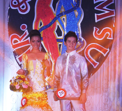 The Mr. and Ms. WMSU 2013 candidates from Pagadian ESU both gained titles as Ivy E. Bastiong was crowned the 2nd runner-up, and Lover Boy Dag-uman was hailed the 1st runner-up.