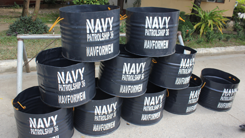 Ten trash cans were donated by the WESMINCOM naval forces to WMSU.
