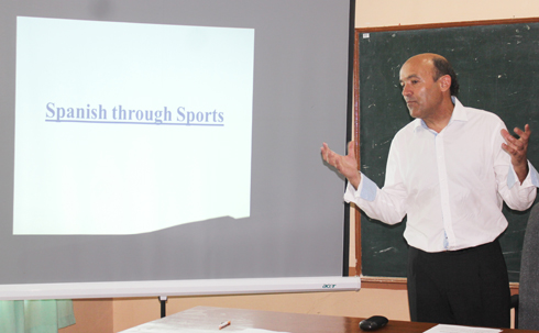 Dr. Anton Torres, a PE Professor from Spain came to WMSU to offer a talk on teaching Spanish through Sports.