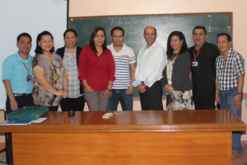 LDRC Director, Prof. Julie Uy-Cabato (third from right) and the Spanish language instructors of WMSU with Dr. Anton Torres (fourth from right)