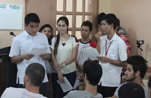 Mass Communication students actively participated in a workshop after the lecture.