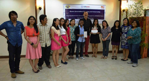WMSU delegates received the award for Best Peace Journalism Performing University from USAID representatives, local media practitioners and the Hon. Ma. Isabelle Climaco-Salazar.