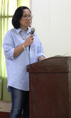 Dr. Chona Q. Sarmiento, RDEC Dean, delivered the recent R & D updates.