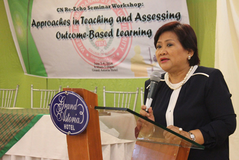 WMSU President, Dr. Milabel Enriquez-Ho shared some points to consider in assessing Outcome-Based Learning.