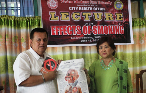 City Health Officer, Dr. Rodelin Agbulos lectured on the harmful effects of smoking to the faculty and administrative personnel of WMSU.