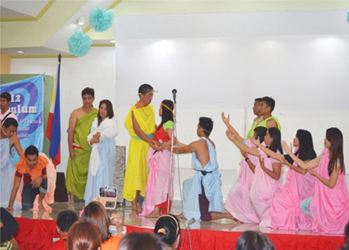 The Grade 9 MAPEH teachers performed a mini-recital during the week-long training-workshop.