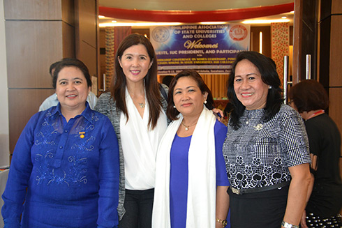 pres and pia- Zamboanga City State Polytechnic President Dr. Nora M. Ponce, together with Hon.  Senator Pia S. Cayetano, WMSU President Dr. Milabel Enriquez-Ho and Zamboanga State College of   Marine Sciences and Technology president, Dr. Milavel D. Nazario.