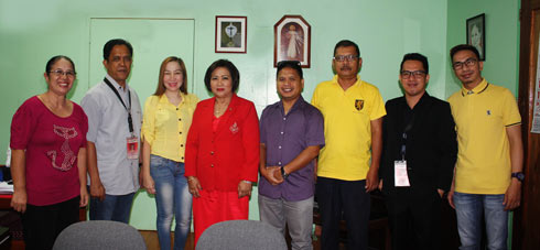 The new set of Faculty Union Officers with the University President Dr. Milabel Enriquez Ho (4th from left) during their courtesy visit at the Office of the President. (L-R) Treasurer Prof. Susan Montebon (CSM); President Engr. Alvin Miguel (CET; Secretary Manilyn Miñoza (ILS-Elem); Auditor Dr. Mohammad Nur Paspasan (CSM); Project Manager Prof. Ardel Barre (CFES); PIO Prof. Carl Richard Dagalea (ILS-HS); and Vice President Prof. Al-ghani Mohammad (CLA).