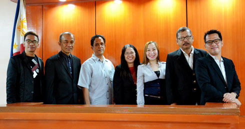 The new Faculty Union Leaders with College of Law Dean Atty. Eduardo F. Sanson (2nd from left) in a posterity shot after the oath taking ceremony.