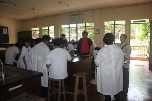 Ocular inspections were conducted by the accrediting team during the survey visit. Dr. Cesar B. Ortiz visits the College of Forestry campus-assessing their extension sites, laboratories and instructional facilities.
