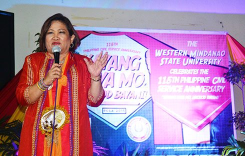 during the program, wmsu prexy inspired every one in the event as she expressed her heartfelt salutations and expressions of gratitude to the awardees and retirees.